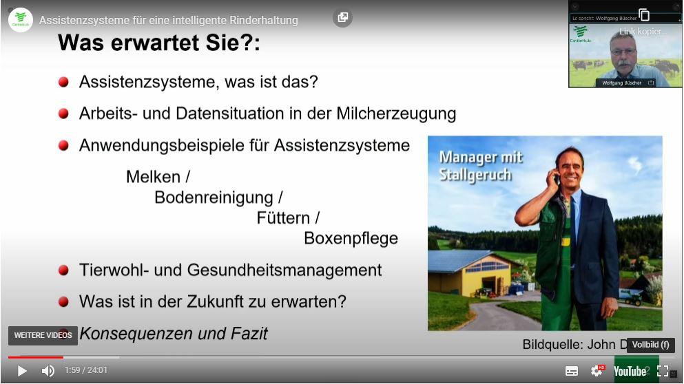 """Einblicke In Die Zukunft Der Milcherzeugung, """"Bedeutung Von Assistenzsystemen Für Die Milchviehhaltung"""", Prof. Dr. Wolfgang Büscher"""